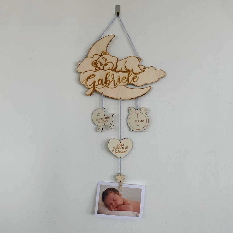 Fiocchi nascita personalizzati